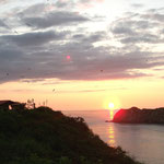 Sonnenuntergang im Camping Islamar in Salango bei Puerto Lopez