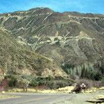 Von 800 Meter über Meer steigt der Paso Paramillos auf 2970 Meter.