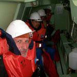 Nach der Übung mit Rettungsboot, kann nichts mehr schief gehen