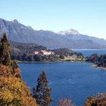 Aussicht von einem unserer Übernachtungsplätze in der Region San Carlos de Bariloche