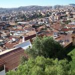 Sucre, die Hauptstadt Boliviens auf 2800m.ü.M