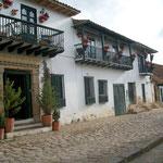 Traditionelle Häuser in Villa Layva, Kolumbien