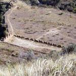 Inca Siedlung, Incallajta, das kleine Machupiccchu, Margrit war die einzige Besucherin