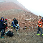 Start auf 5000m zum Basiscamp des Chachani in 5250m Höhe