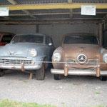 So sehen die Autos vor der Restaurierung aus, manchmal noch viel schlimmer