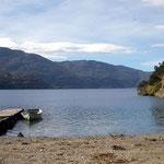 Stellplatz am Lago Cochrane im Süden Chiles