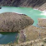 Kratersee des Vulkan Azufral auf 4000 Meter