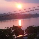 Der erste Morgen in Peru bei Puerto Maldenado um 06:10 Uhr