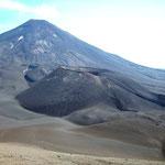 Hinten der Vulkan Lonquimay, im Vordergrund Krater Navidad