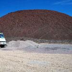 Diesen Vulkan wollte Margrit natürlich besteigen, die 200 Höhenmeter waren noch zu meistern.