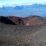 Krater unterhalb des Vulkans Osorno