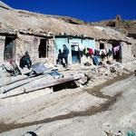 Bergarbeiterunterkünfte in Potosi.