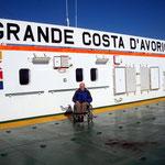 Das ganze Oberdeck steht uns Passagieren für die Überfahrt von Montevideo nach Hamburg zur Verfügung