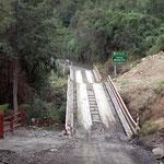Strasse und Brücken entlang des  chilenischen Lago Llanquihue