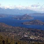 Das argentinische San Carlos de Bariloche und Lago Nahel Huapi