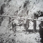 So wurden die Lasten zum Bau der Seilbahn transportiert.