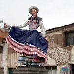 In Chivay ist die Fussgängerzone mit vielen derartigen Darstellungen geschmückt