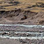 Auf weiten Strecken Richtung Cusco wird von Gold geschürft