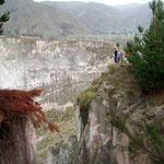 Sandsteinschlucht zwischen Zumbahual und Quilatoa