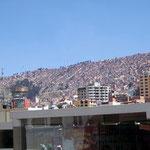 La Paz vom Zentrum aus gesehen