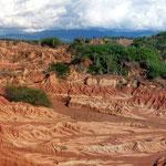 Die Tatacoa-Wüste mit ihren malerischen Sandformationen