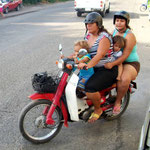 In Kolumbien muss man Helme tragen