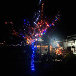 San Augustin auf dem Camping. Schon am 12, November Weihnachtsbeleuchtung