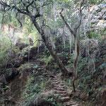 Mystischer Ort in der Inca Siedlung, Incallajta
