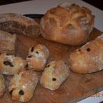 Le pain fabriqué au moulin à grains