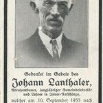 Johann Lanthaler 1864 - 1935