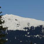 Blick zum Skigebiet Roßkopf