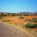 Pisteneinfahrt aus Süden kommend-scharfe Rechtskurve