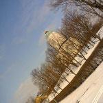 いかにも北欧の冬の風景