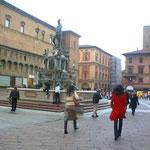 ボローニァの街、絵になる