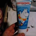ムーミンのハンドクリーム(多分、今も開封してないので中身は不明w)