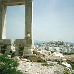 これはナクソス島の遺跡ね、宿から歩いて15分くらいの所、素敵な所で遺跡独り占めOK