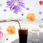 これがギリシャの定番ドリンクメニュー、アイスネスカフェ、いつも飲んでたw