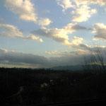 これはボローニァからローマへの電車の車窓からの景色