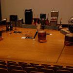 シグマ前日のリハーサルで「キャラバン」のコラボ練習:やぼ天神太鼓の皆様と