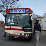 混雑時に活躍する福島交通のシャトルバス