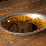 アメ釉オーバル鉢(大) 26cm x 17.5cm x 高さ5.5