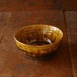 アメ釉台形鉢(小)