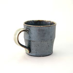 黒釉ビードロ縁マグカップ(小) 口径8cm x 高さ8cm