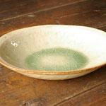 ビードロ釉オーバル鉢(大) 26cm x 17.5cm x 高さ5.5