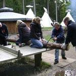 Zelten in Brunnenbachsmühle (Braunlage) 2008