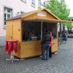 Verkausstand von Holzhaus Roew als Infostand
