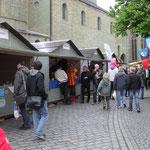 Verkaufsstände auf dem Hansemarkt