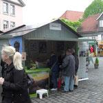 Verkaufshütte auf dem Hansemarkt