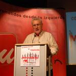 """11 de diciembre. Cayo Lara participa en el acto """"Alternativas de izquierda a la crisis económica"""" en la Universidad Rey Juan Carlos"""