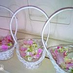 Blütenkörbchen für Kinder oder Brautjungfern